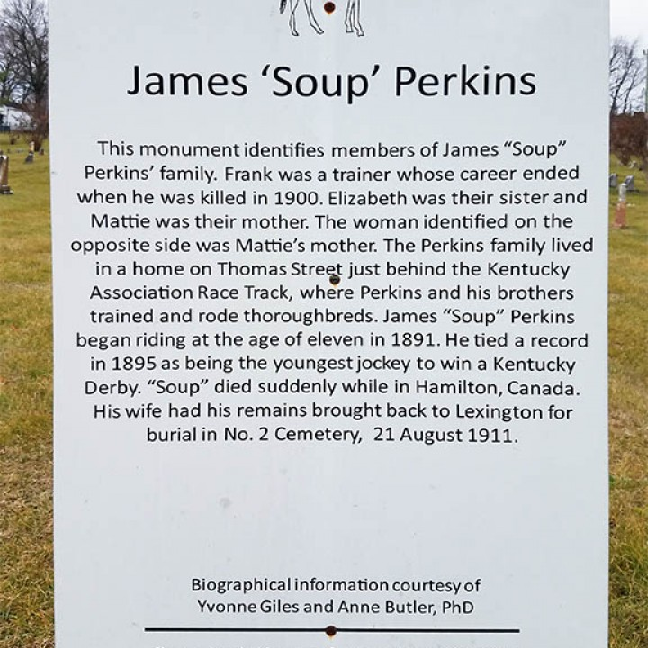 "Photograph of James ""Soup"" Perkins sign"
