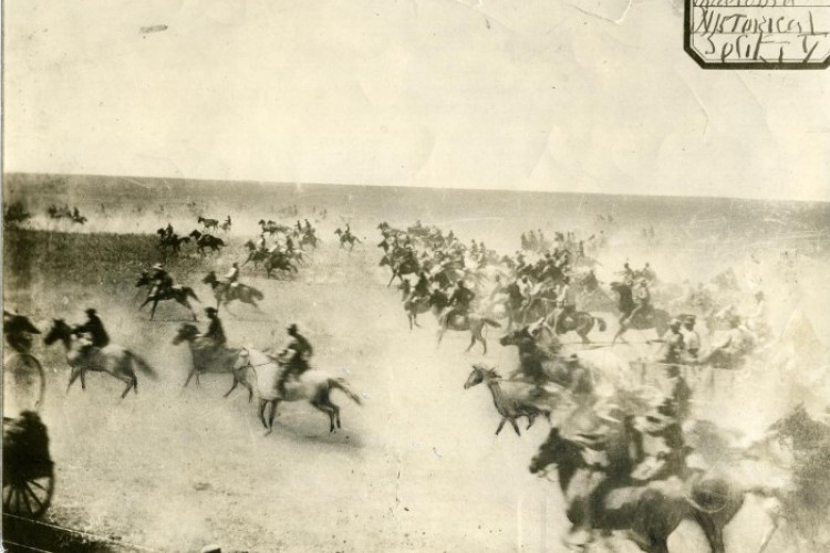 Photograph of the Cherokee Strip Land Run